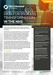 Data for process transformation in the NHS