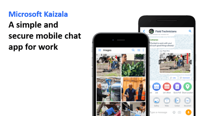 Microsoft Kaizala A simple and secure mobile chat app for work