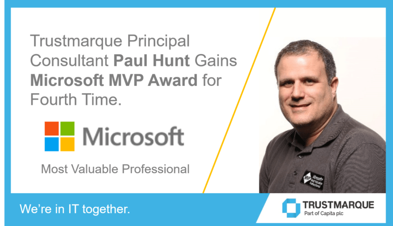 Paul Hunt made Microsoft MVP for fourth time