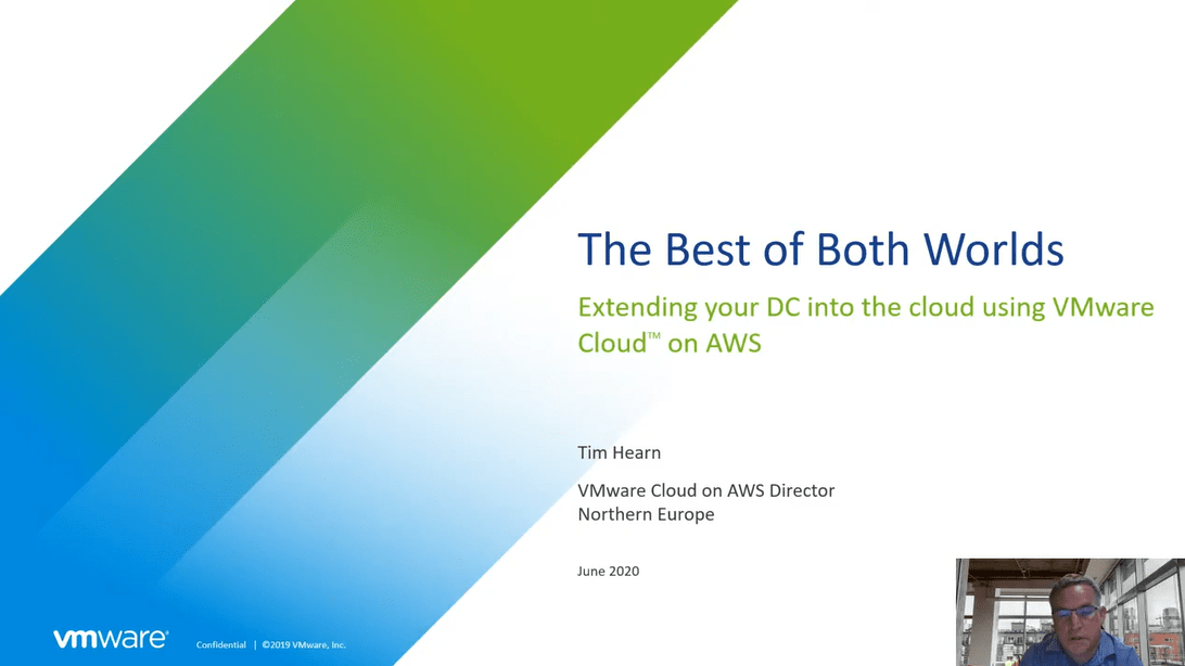 The Best of Both Worlds - Extending your DC into the cloud using VMware Cloud on AWS