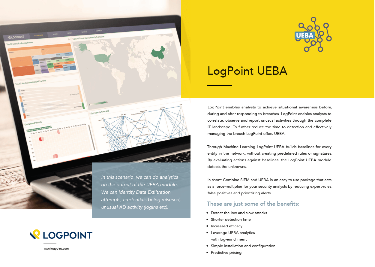 Logpoint UEBA overview